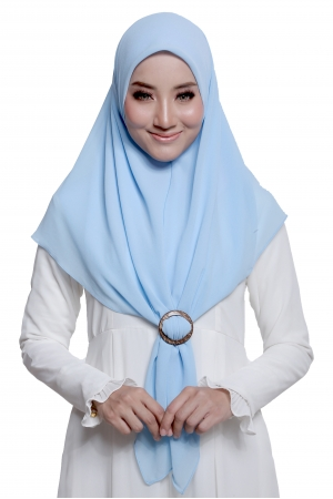 Bawal Express Plain in Light Blue