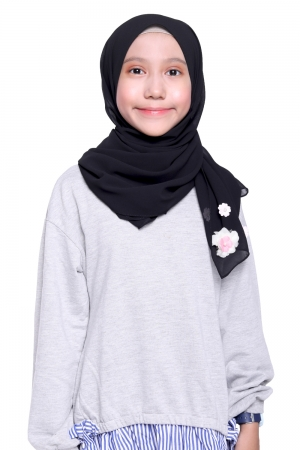Instant Shawl Plain in Black