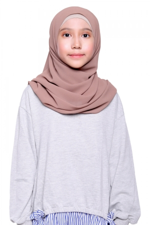 Instant Shawl Plain in Cocoa
