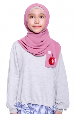 Instant Shawl Plain in Dusty Pink