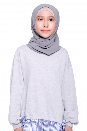 Instant Shawl Plain in Grey