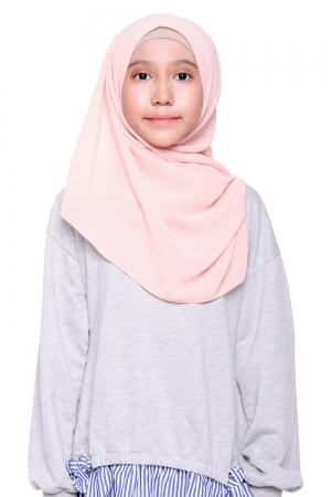 Instant Shawl Plain in Peach