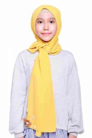 Instant Shawl Plain in Yellow