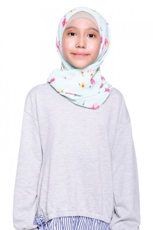 Instant Shawl Printed in Mint Floral