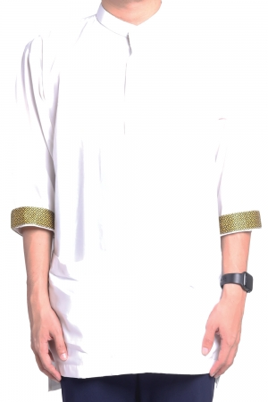 Kurta Amin Kasual in White