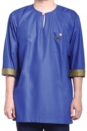 Kurta Amin Kelasik in Royal Blue