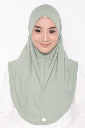 Let's Sarung Plain in Apple Green