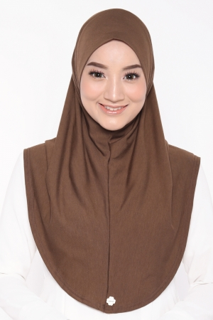 Let's Sarung Plain in Brown