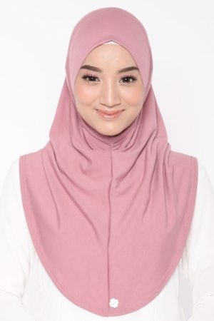 Let's Sarung Plain in Dusty Pink