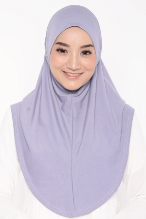 Let's Sarung Plain in Dusty Purple