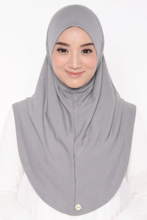 Let's Sarung Plain in Grey