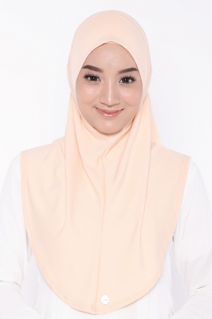 Let's Sarung Plain in Peach