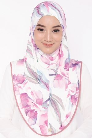 Let's Sarung Printed in Flower Pink